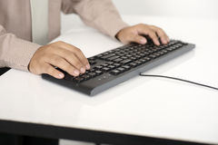 Business Man Type With Keyboard Stock Photos