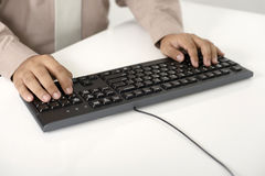 Business Man Type With Keyboard Royalty Free Stock Photos