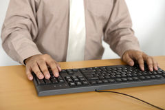 Business Man Typing Royalty Free Stock Photography