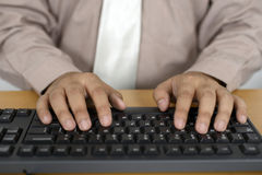 Business Man Typing Stock Photo