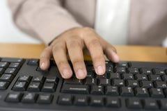 Business Man Typing Stock Photos
