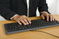 Business Man Typing Royalty Free Stock Photo