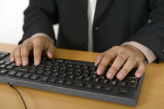 Business Man Typing Royalty Free Stock Images
