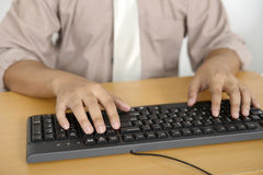 Business Man Typing Stock Image