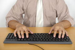 Business Man Typing Stock Images