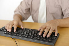 Business Man Typing Stock Photography