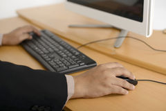 Business man typing with keyboard Royalty Free Stock Photo