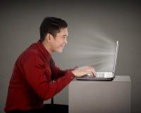 Business Man Typing royalty free stock image