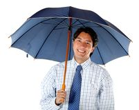 Business man with an umbrella Stock Image