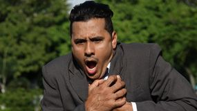 Business Man Under Stress Royalty Free Stock Photos