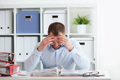 Business man under stress Royalty Free Stock Images