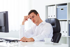 Business man under stress Royalty Free Stock Photography