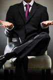 Business Man Unsure. Image of a business man with unsure gesture Stock Image
