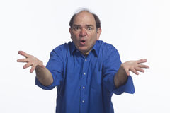 Business man upset, horizontal Royalty Free Stock Image