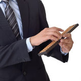 Business man use abacus Stock Images