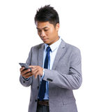 Business man use cellphone Stock Image