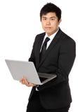 Business Man use computer Stock Photo