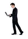 Business man use laptop Royalty Free Stock Photography