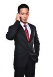 Business Man Use Mobile Phone Royalty Free Stock Image