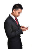 Business Man Use Mobile Phone Royalty Free Stock Photos