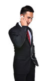 Business man use mobile phone Stock Photos
