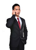 Business man use mobile phone Stock Images