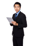 Business man use with tablet Royalty Free Stock Images