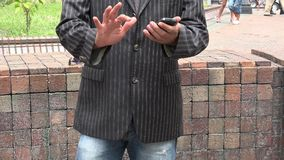 Business Man Using Cell Phone stock video footage