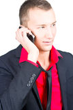 Business man using cellphone. Stock Images