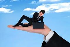 Business man using computer Stock Photos