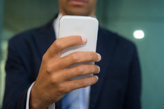 Business man using his mobile phone Royalty Free Stock Photo