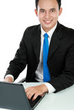 Business man using laptop Royalty Free Stock Photo