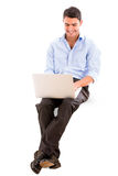 Business man using a laptop Stock Photos