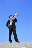 Business man using megaphone Stock Photography