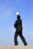 Business man using megaphone Stock Photos