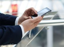 Business man using mobile Royalty Free Stock Photography