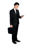 Business man using phone Royalty Free Stock Images