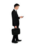 Business man using phone Royalty Free Stock Photography