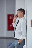 Business man using phone Stock Images
