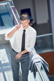Business man using phone Stock Photography