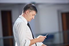Business man using phone Stock Image