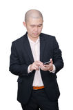 Business man using smart phone Royalty Free Stock Photography