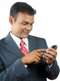 Business man using smartphone Stock Photos