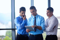 Business man using tablet compuer at office Royalty Free Stock Image
