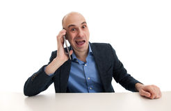 Business man using tablet Royalty Free Stock Photography