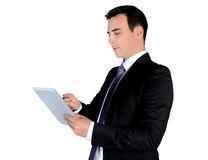 Business man using tablet Royalty Free Stock Image
