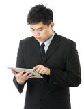 Business man using tablet Stock Photos
