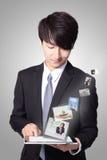 Business man using tablet pc Stock Photos