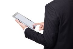 Business man using touch pad Royalty Free Stock Images