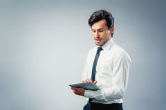 Business man with touchpad Royalty Free Stock Photo